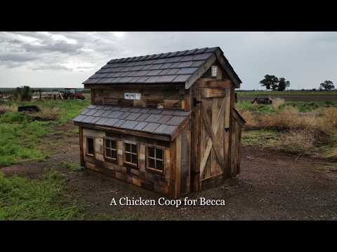 Building A Rustic Chicken Coop With Reclaimed Wood