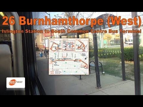 26 Burnhamthorpe (West) - MiWay 2008 New Flyer D60LFR 0864 (Islington Stn to South Common)