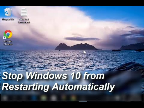 Stop Windows 10 from restarting automatically