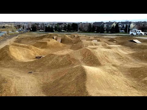 A Brand New Mountain Bike Park and BMX Dirt Jumps At Mckay Lake Park Broomfield Colorado.