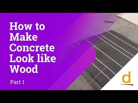 How to make concrete look like wood? Part 1/2