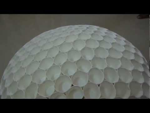 Amazing paper cup GEODESIC dome - science project.