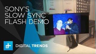 Sony Xperia XA2 Ultra - Slow Sync Flash Demo at CES 2018