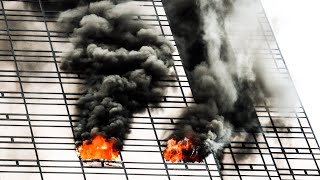 **trump Tower Fire!** - Heavy Fire On The 50th Floor At Manhattan 4th Alarm 10-76 Box 4500