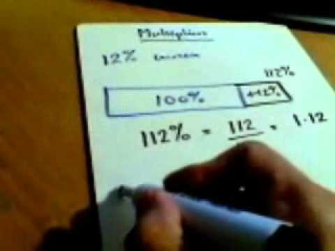 Number Percentages   Converting a percentage change into a multiplier HH