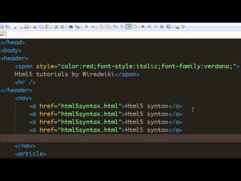 Html 5 tutorial - 10 - Using Nav element.mp4