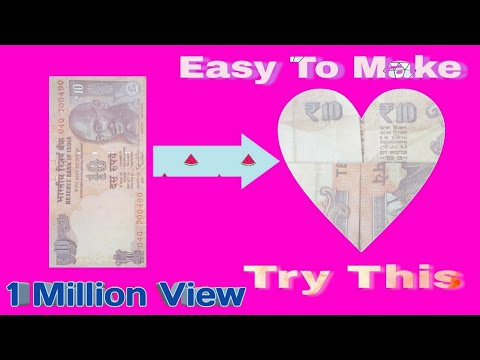 How To Make Note Heart ♥ || Easy To Make  Heart ||