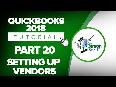 QuickBooks 2018 Training Tutorial Part 20: Setup and Edit Vendors in QuickBooks