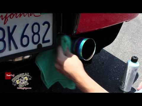 How To: Polish Titanium and Stainless Exhaust Tips - Chemical Guys NSX Detailing Metal Wax