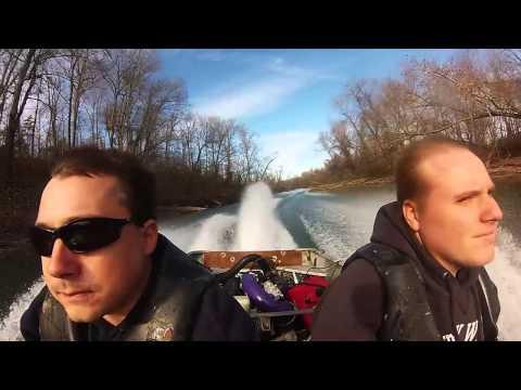 110 hp seadoo powered jet jon boat hardin creek tn river
