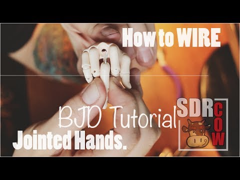 BJD Tutorial - How to Wire Jointed Hands