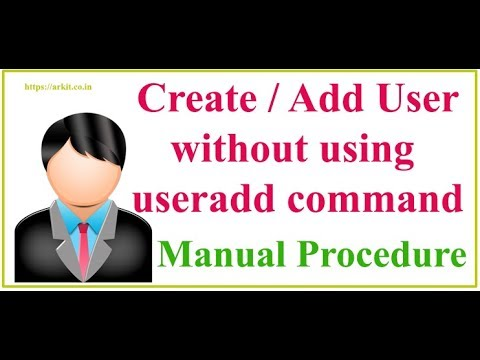 How to add user without USERADD command in redhat LINUX (Final HD Video)