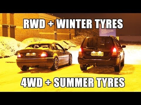 RWD and winter tyres VS 4WD and summer tyres on snow