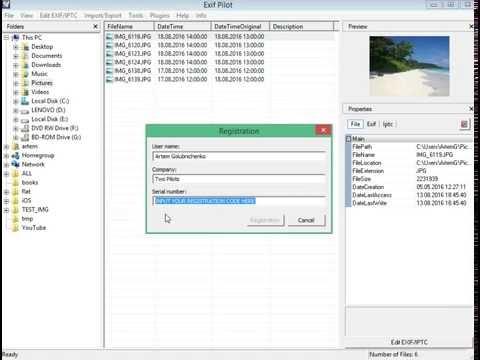How to add batch editing plugin to Exif Pilot using Exif Pilot