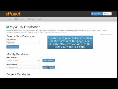 How to delete a MySQL Database in cPanel