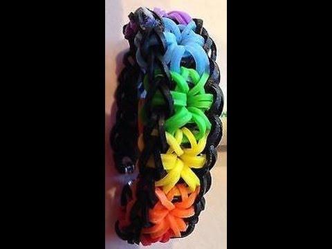 How to Make - Loom Band Bracelets Starburst - EASY DIY Tutorial
