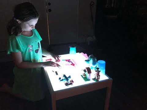 HOW TO MAKE A LIGHT TABLE - YOUR KIDS WILL LOVE IT!