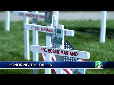 Modesto family honors fallen soldiers with Memorial Day display