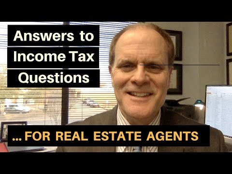 Answers to Income Tax Questions for Real Estate Agents