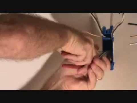 How to connect the ground wires for an electrical outlet