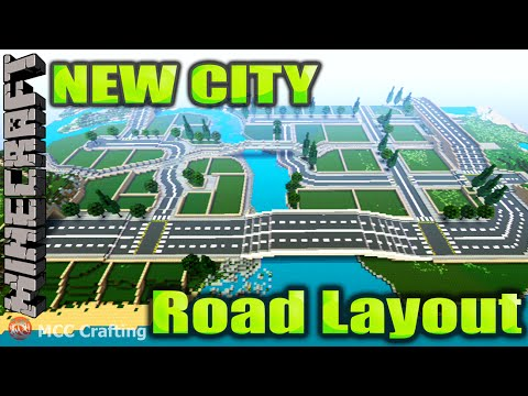 MINECRAFT New City Road Layout Pre-fab Infrastructure LBS City PS3/PS4/XBOX/PC