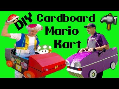 How to build a Cardboard Race Car--Mario Kart 101