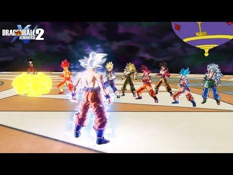 Mastered UI Goku vs All Goku's Transformations - DragonBall Xenoverse 2