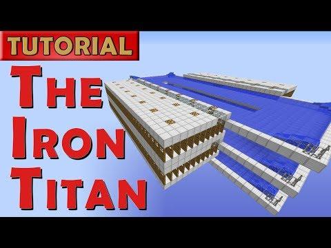 The Iron Titan - Minecraft Iron Golem Farm - 2600 Iron/hr (Works in 1.12+)