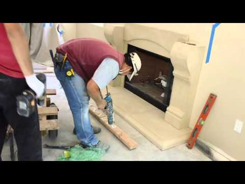 How to Install a Cast Stone Fireplace Mantels over a Prefab Firebox by Mantel Depot