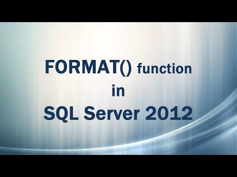 FORMAT() function in SQL Server 2012