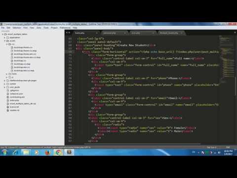 Codeigniter -- How to insert multiple table codeigniter and bootstrap part 3