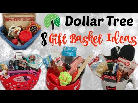 8 DOLLAR TREE GIFT BASKETS/ QUICK & EASY