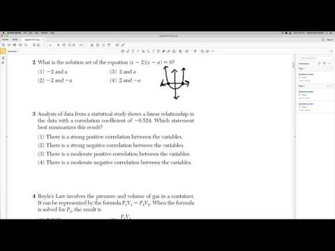 Algebra Regents 2017 January Problem 2