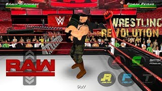 Brown Strowman Returns And Attack Samoe Joe And Roman Reigns - WRESTLING REVOLUTION 3D