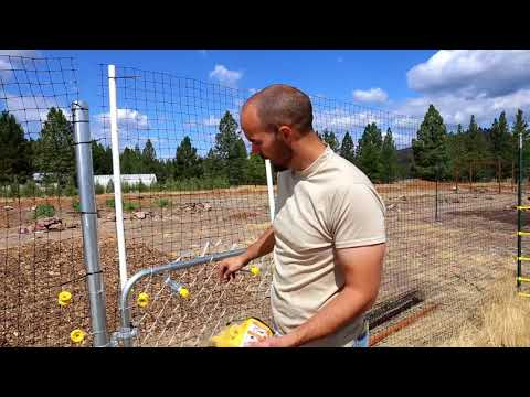 Electric fence gate trick