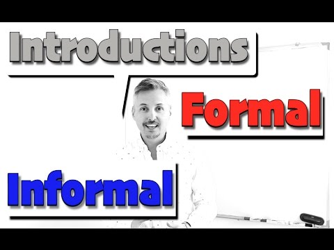 Introductions: Formal and Informal (GREAT Lesson - GOOD FOR Job INTERVIEWS - MUST WATCH)