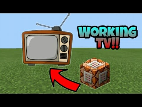 How to make a working Tv in Minecraft pe using commandblock (improve)