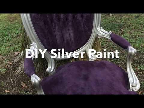 Silver Metallic Furniture Painting DIY Princess Chair Makeover!