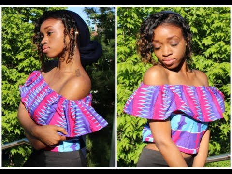 DIY Off the Shoulder Crop Top (EASY)