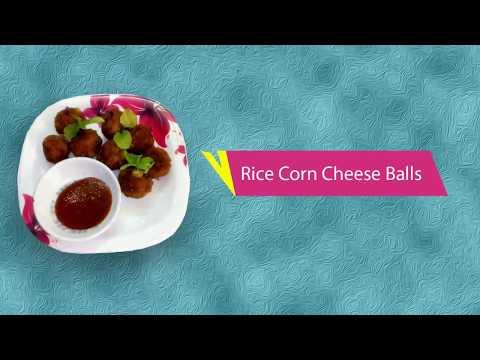 Crispy Rice Corn Cheese Balls