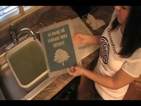 DIY Silk Screen Printing at Home, How-To Make A Stencil - EZScreenPrint Step 1