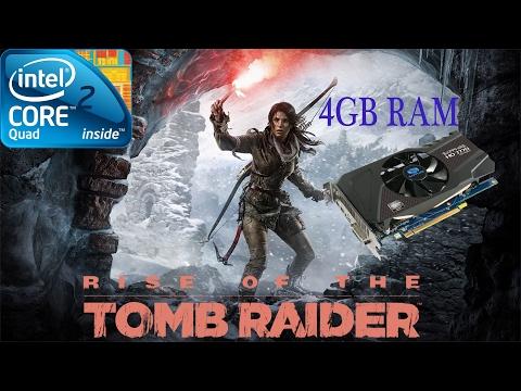 Rise of the Tomb Raider Gameplay Q6600 4GB Ram HD 7770