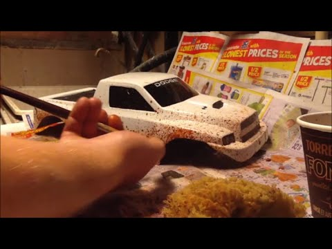How To Weather Your R/C AXIAL TRUCK - Painting Mud, Permanent