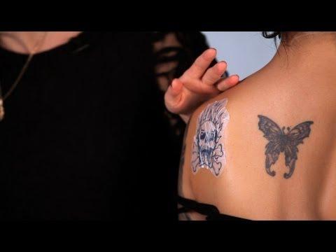Applying Alcohol Transfer Fake Tattoo | Special FX Makeup