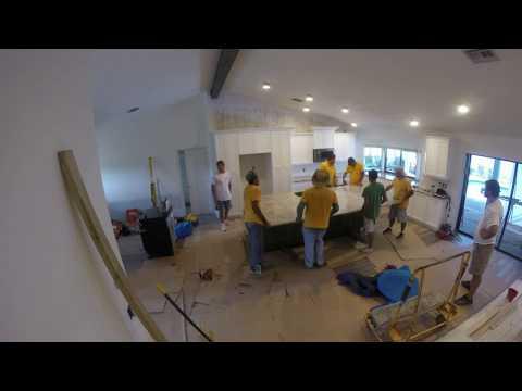 Installing Large Granite Island