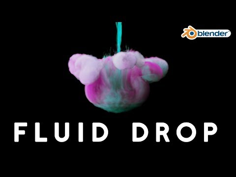 Colorful Fluid and Ink Drop Tutorial in Blender!