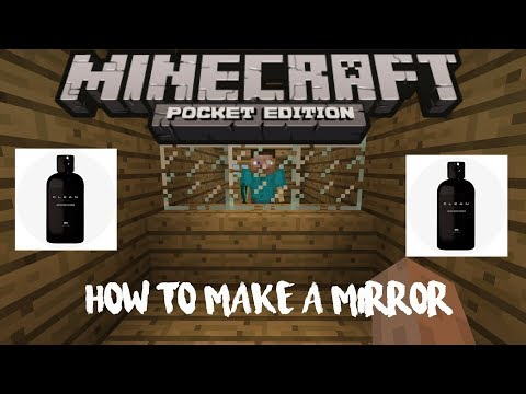 How To Make a Mirror in MCPE | How To #30 | Sponsored By Minamul