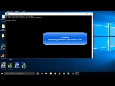 How to find ip address of a website in Windows 10