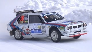 Lancia Delta S4 Group B Martini Racing in Action on Snow! - Pure Sound at Livigno Ice Track!