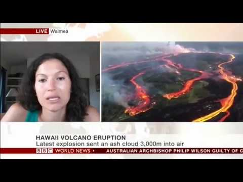 BBC World Interview with Meteorologist Malika Dudley & Lava Evacuee Emily Dudley